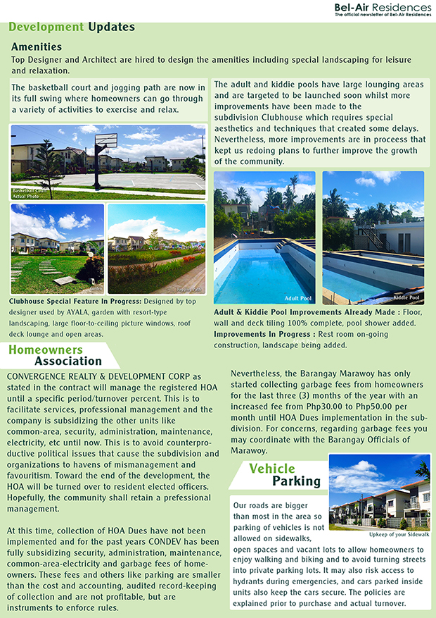 Bel-Air Residences Newsletter Dec2916